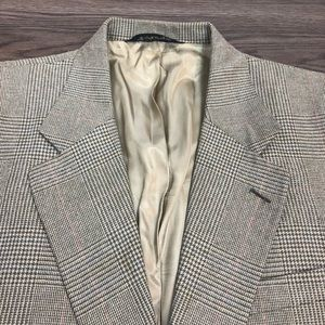 Burberry Olive Plaid Silk Sport Coat 38R
